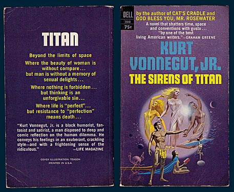 an analysis of kurt vonneguts second novel the sirens of titan ― kurt vonnegut jr, the sirens of titan there is room enough for an awful lot of people to be right about things and still not agree ― kurt vonnegut, the sirens of titan.