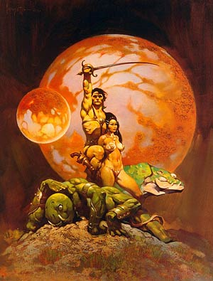 Frazetta cover art for A Princess of Mars
